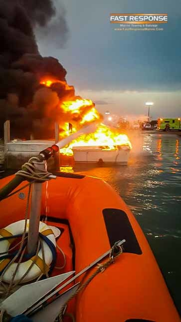 fighting boat fire