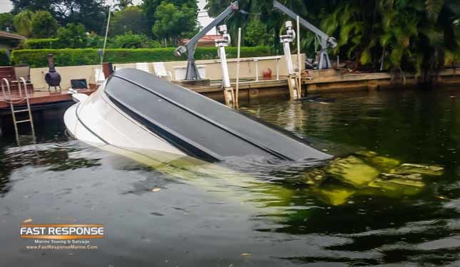 boat capsized at dock