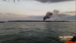 boat fire smoke