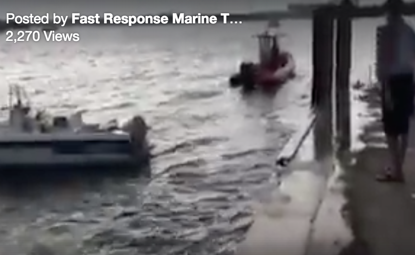 Beached boat rescue