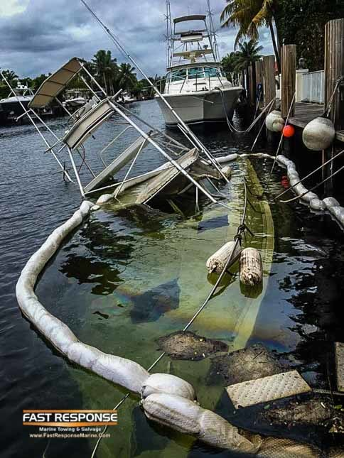 sunk at dock during hurricane